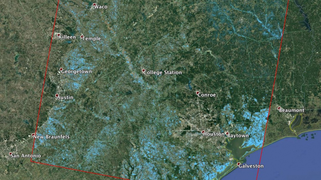News | Nasa Working With Partners To Provide Harvey Response - Conroe Texas Flooding Map