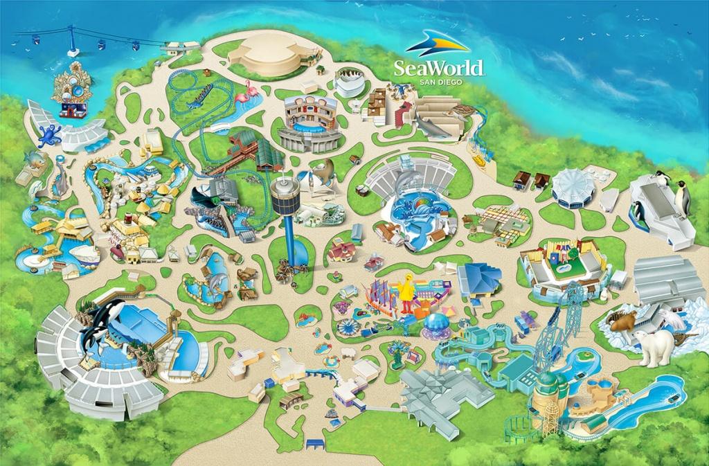 Nice Design Ideas Sea World Map Theme Park Attractions Seaworld San - Seaworld California Map