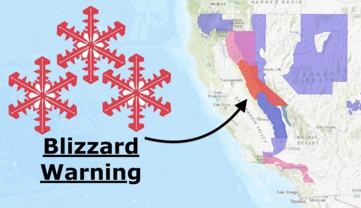 California Snow Map