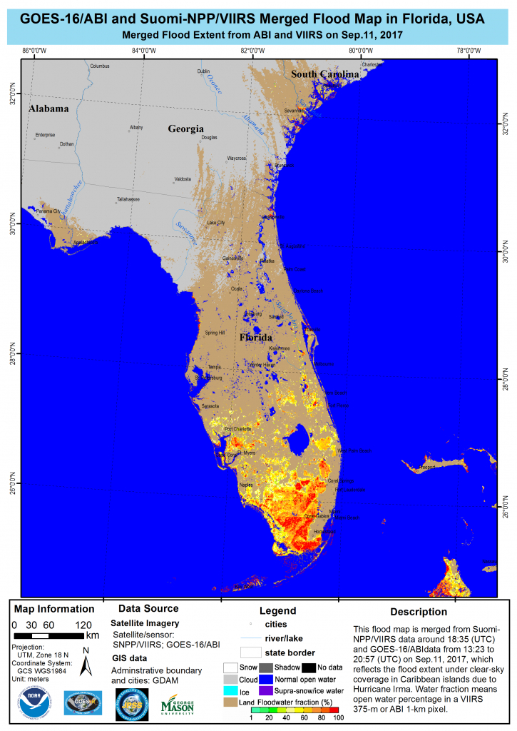 Noaa Satellites And Aircraft Monitor Catastrophic Floods From - Flood Plain Map Florida