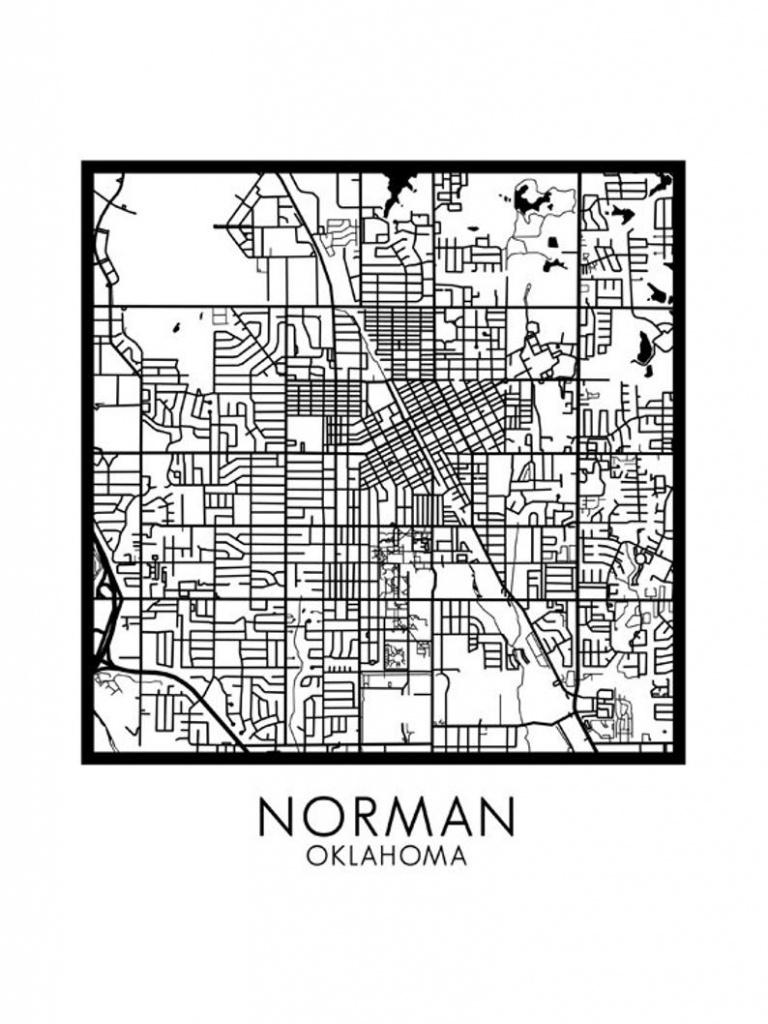 Norman Ok Printable City Map Download Diy Modern Minimalist   Etsy - Printable Map Of Norman Ok