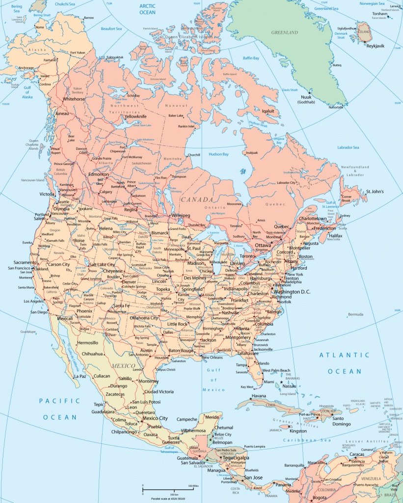 North America Map - Toronto California Map