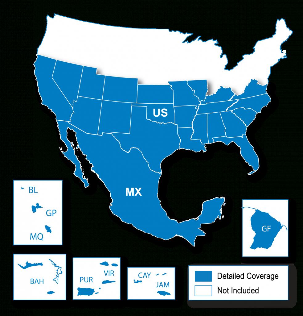 North American Map Regions | Garmin Support - Garmin California Map