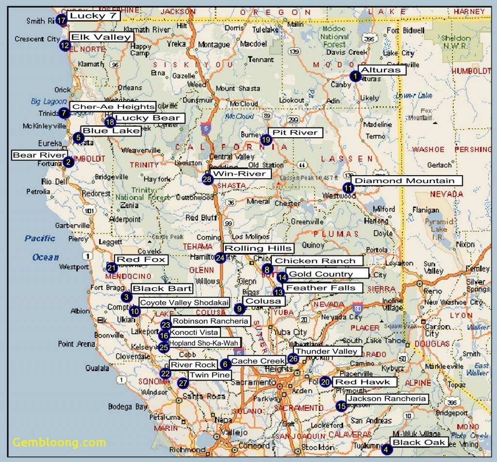 North California Map Northern With Cities Detailed Of | D1Softball - Map Of Northern California Cities