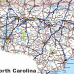 North Carolina Road Map   Printable Map Of North Carolina