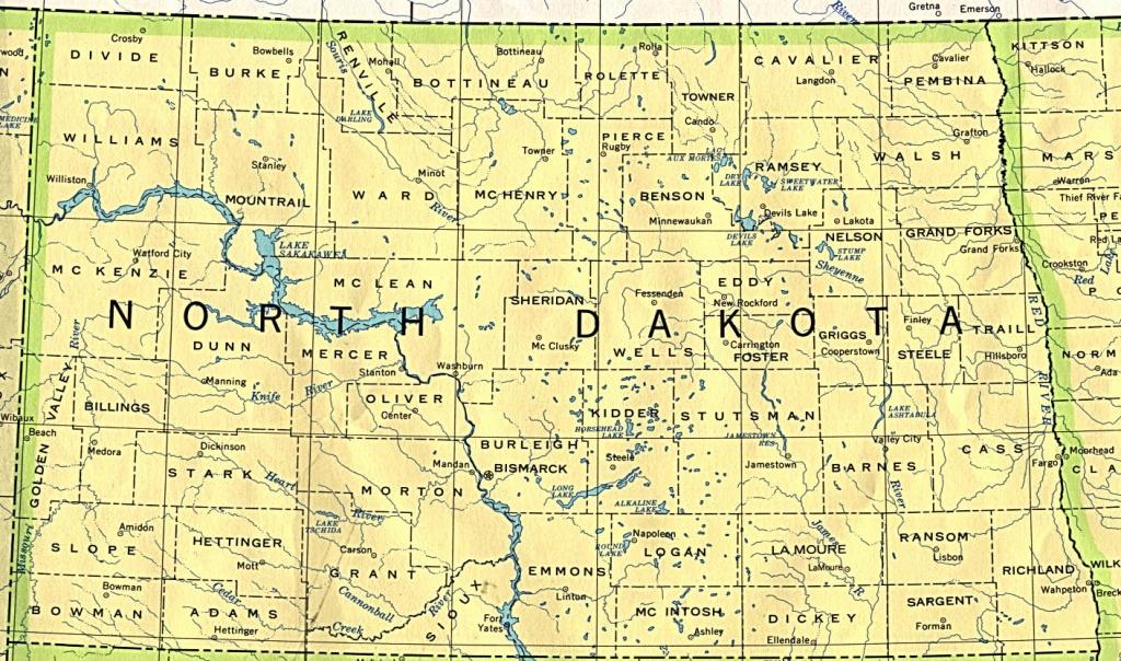 North Dakota Maps - Perry-Castañeda Map Collection - Ut Library Online - Printable Map Of North Dakota