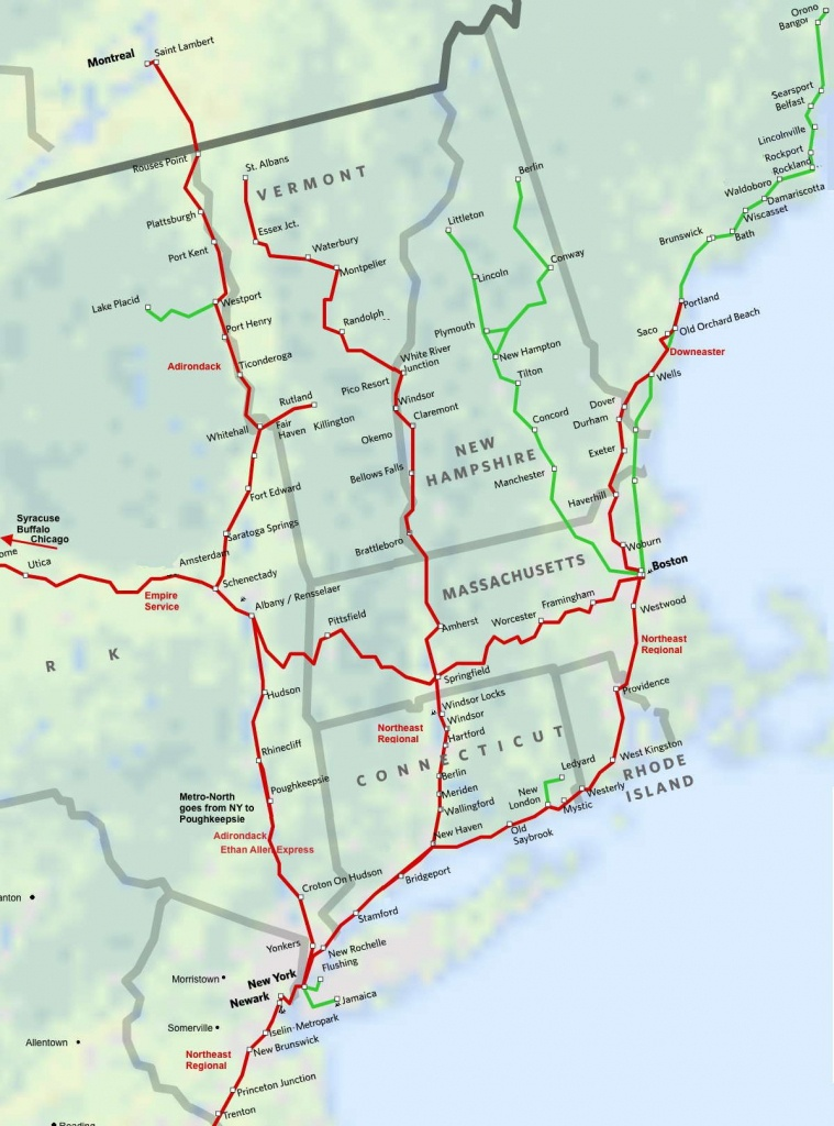 North East New England Amtrak Route Map. Super Easy Way To Get To - Amtrak Florida Map