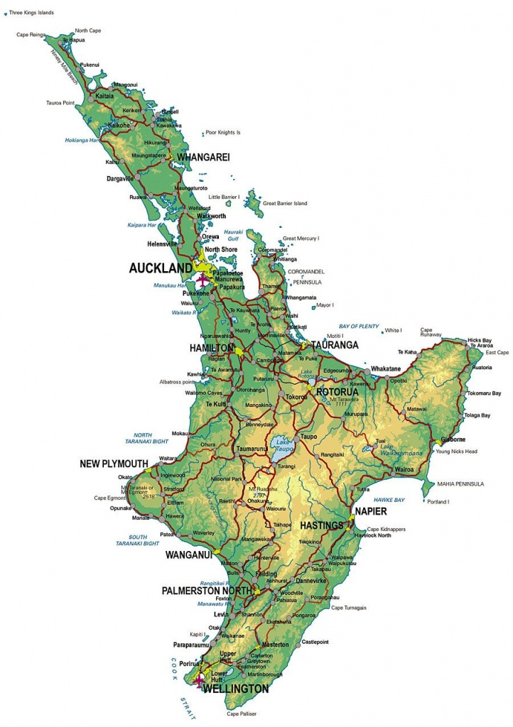 North Island New Zealand | Large Zoom In Map Of Nz | Nature In 2019 - New Zealand North Island Map Printable