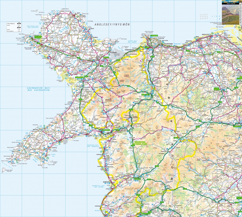 North Wales Offline Map, Including Llandudno, Conwy, Anglesey - Printable Map Of Wales