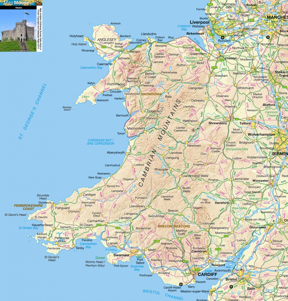 North Wales Offline Map, Including Llandudno, Conwy, Anglesey - Printable Street Map Of Llandudno