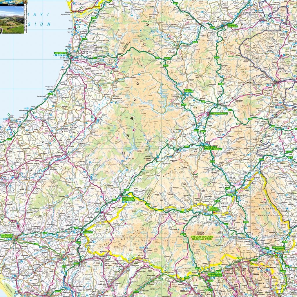 North Wales Offline Map, Including Llandudno, Conwy, Anglesey - Printable Street Map Of Llandudno