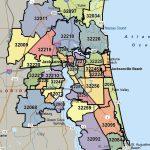 Northeast Florida Zip Code Map | Autobedrijfmaatje   Florida North Map