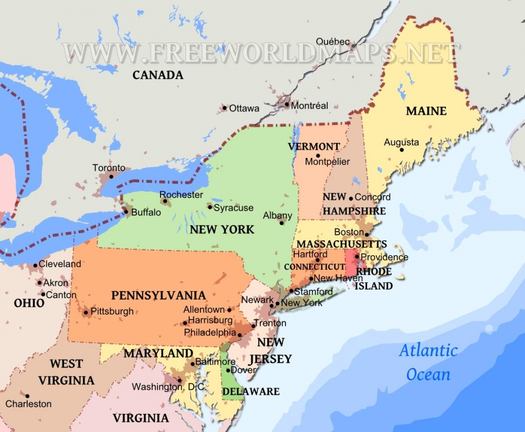 Northeastern Us Maps - Printable Map Of The Northeast