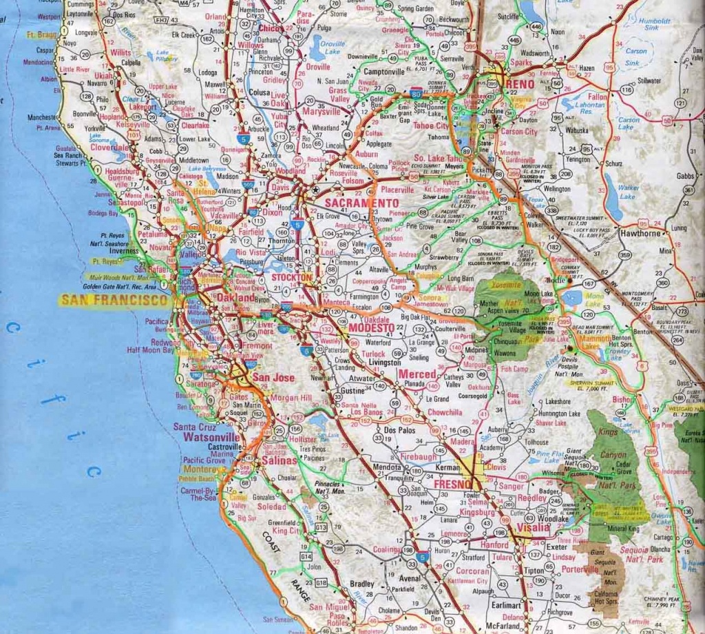 Northern Ca Map Of Cities And Travel Information | Download Free - Map Of Northern California Cities
