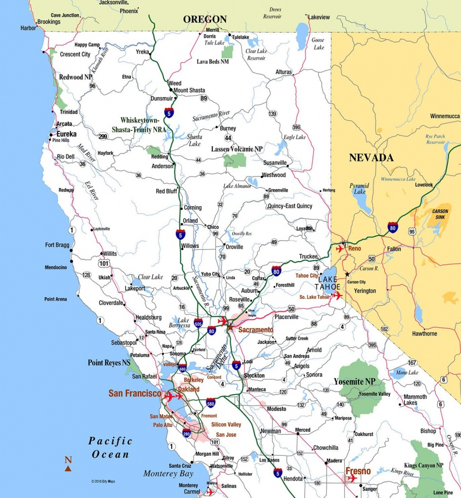 Northern California - Aaccessmaps - Show Map Of Southern California