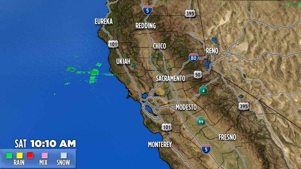 Northern California   Abc7News - California Radar Map