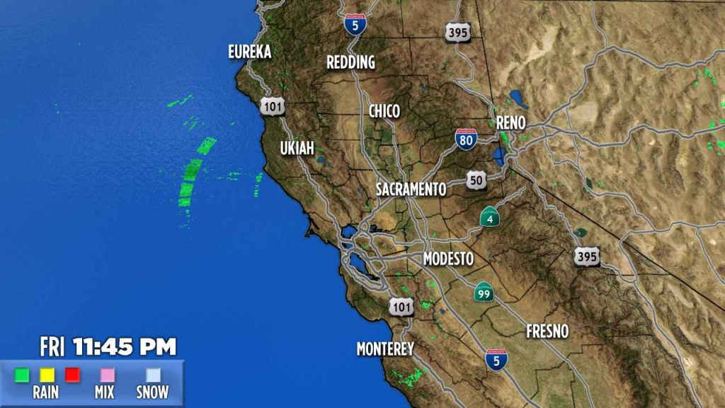 Northern California   Abc7News - California Weather Map
