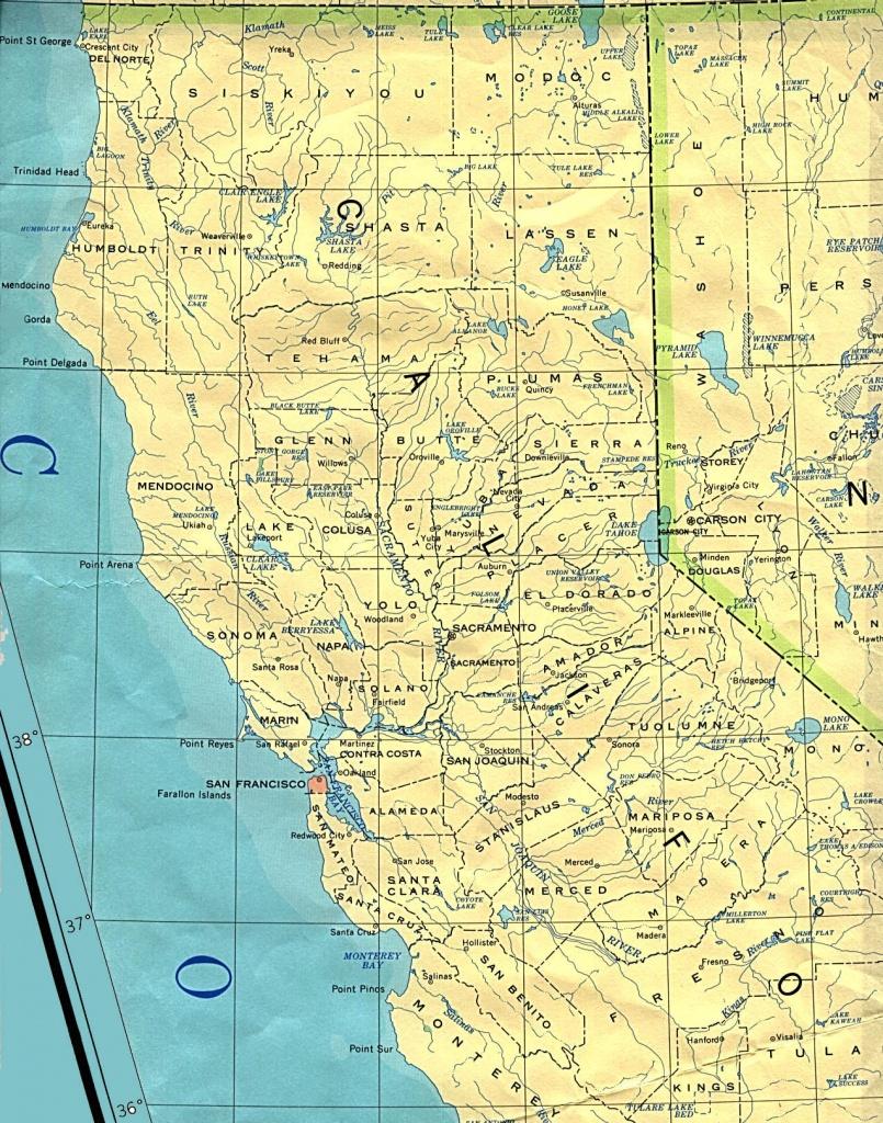 Northern California Base Map - Map Of Northern California
