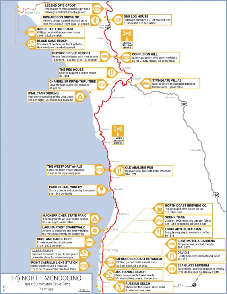 Northern California Highway 1 Road Trip Guide - California Highway 1 Road Trip Map