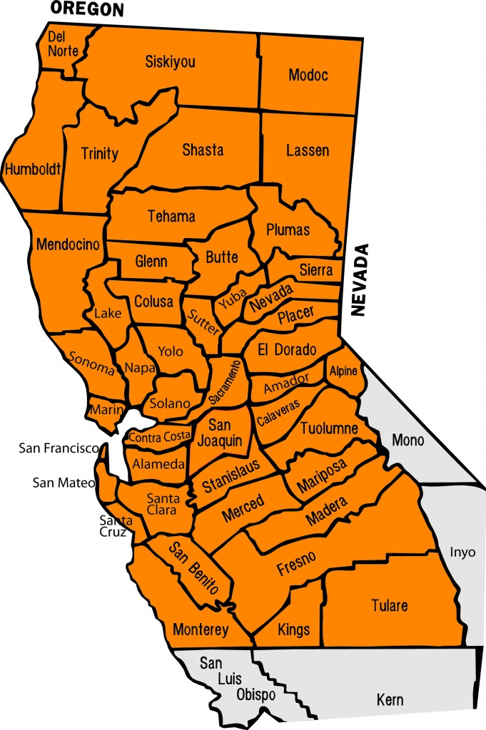 Northern California - Lecet Southwest - Northern California County Map