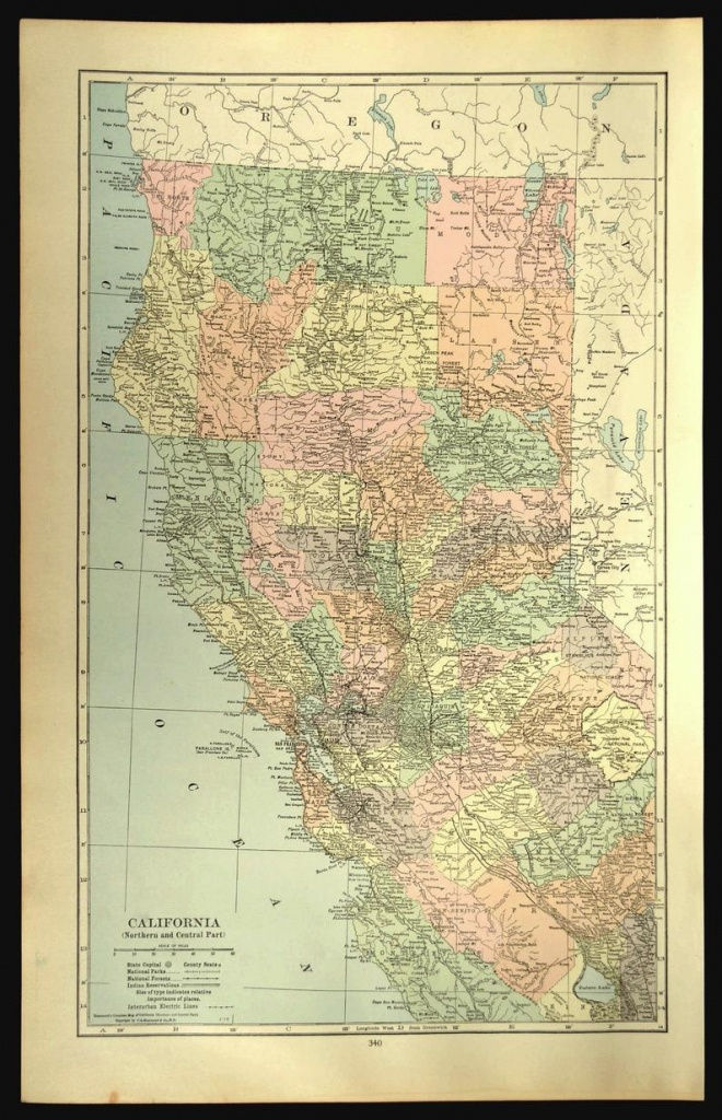 Northern California Map Of Northern California Wall Decor Art   Etsy - Northern California Wall Map