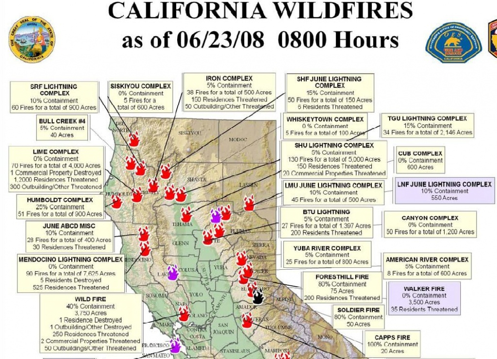 Northern California Wildfire Map | Highboldtage - Northern California Wildfire Map