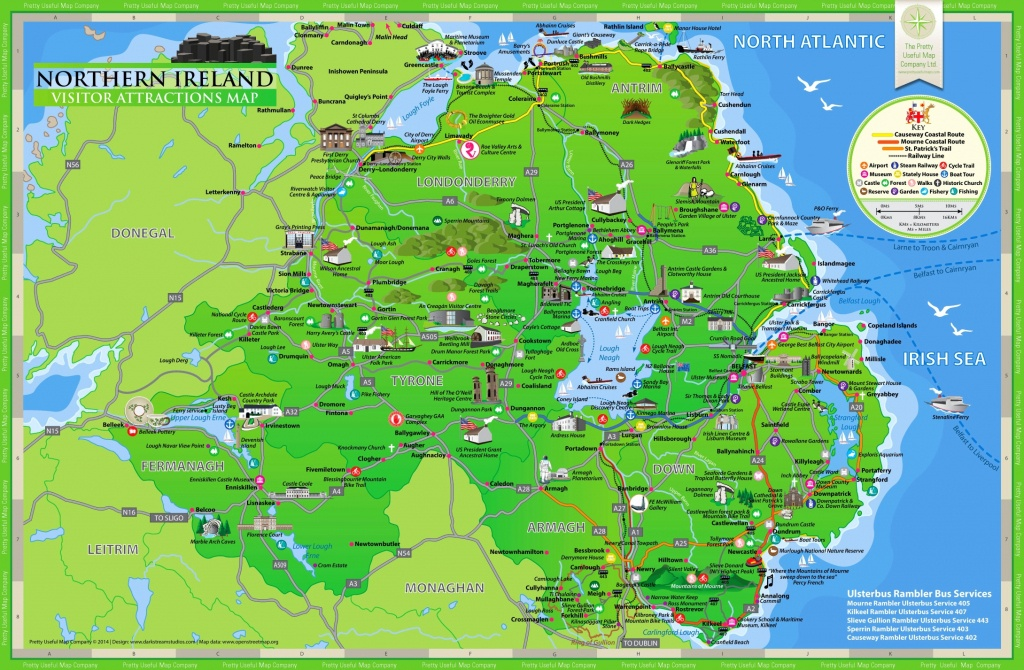 Northern Ireland Tourist Map - Printable Map Of Northern Ireland