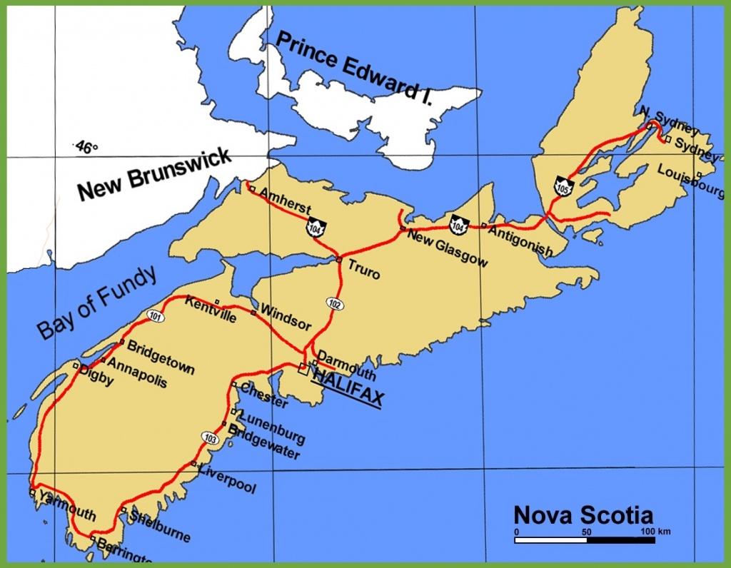 Nova Scotia Maps | Canada | Maps Of Nova Scotia (Ns) - Printable Map Of Nova Scotia Canada