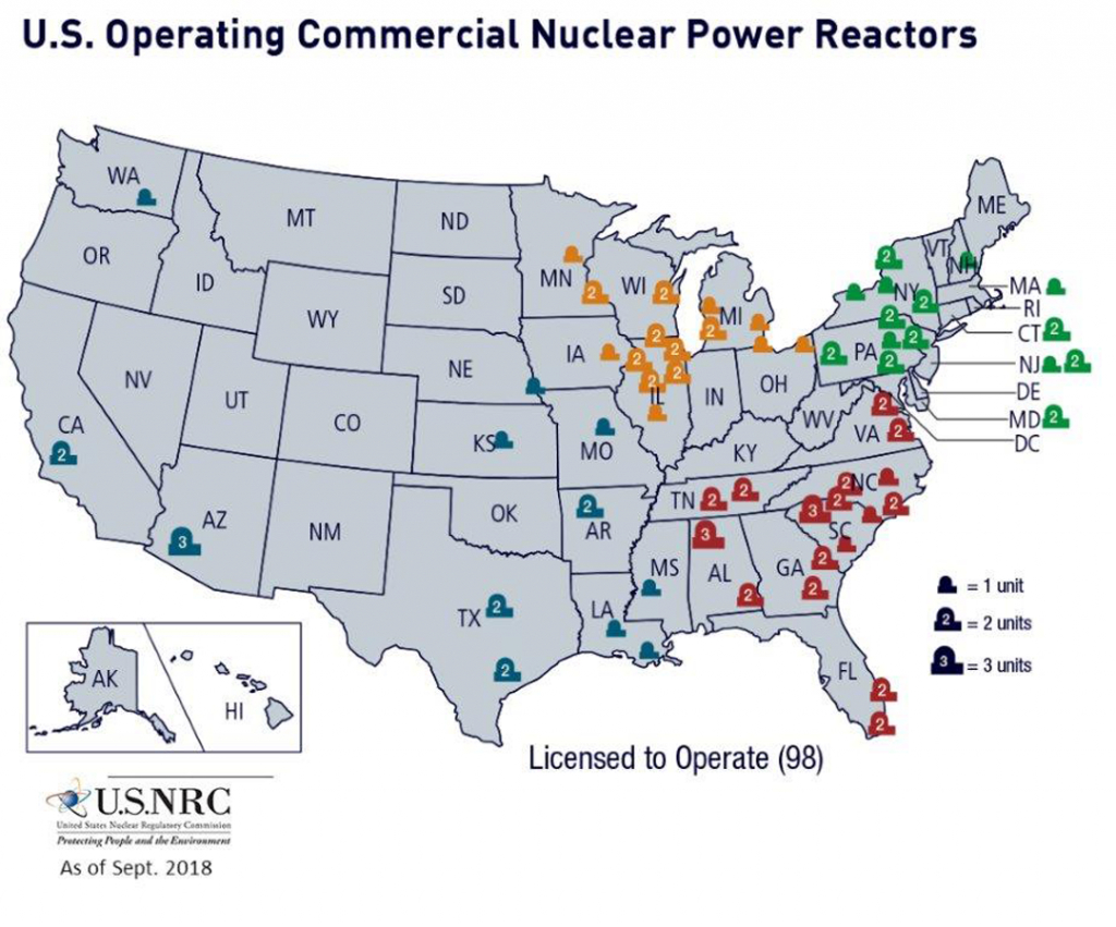 Nrc: Map Of Power Reactor Sites - Nuclear Power Plants In California Map