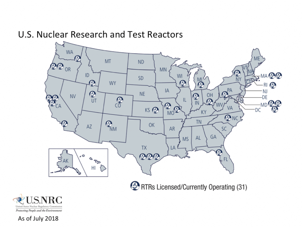 Nrc: Nrc Maps Of Research And Test Reactors - Power Plants In Texas Map