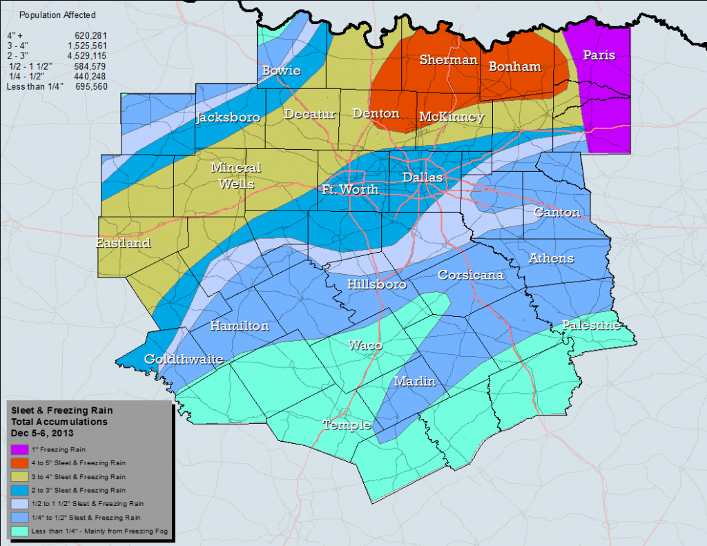 Nws Ft. Worth - Waco Texas Weather Map