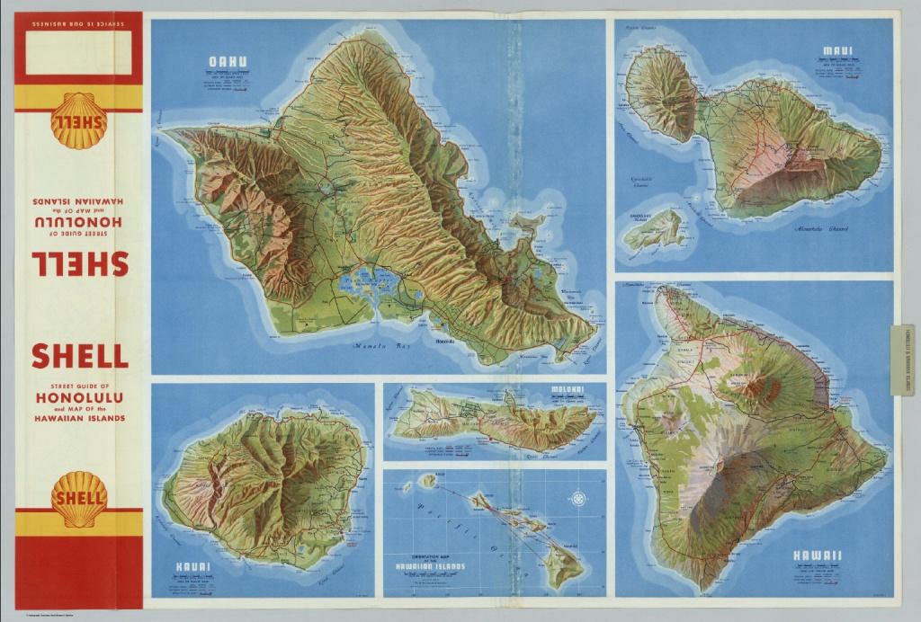 Oahu. Kauai. Maui. Molokai. Hawaii. Hawaiian Islands. - David Rumsey - Molokai Map Printable