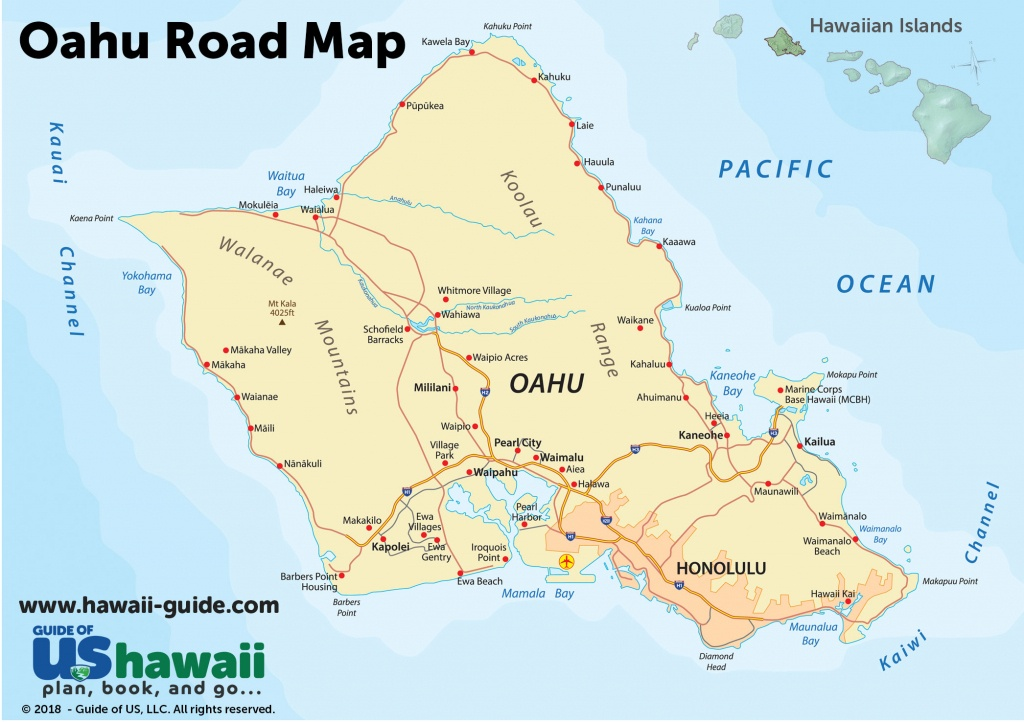 Oahu Maps - Printable Driving Map Of Kauai