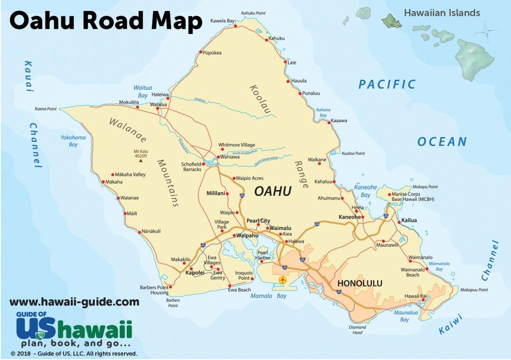 Oahu Maps - Printable Road Map Of Kauai