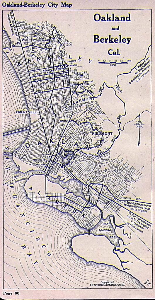 Oakland And Berkeley Map 1917 | I Hella Love Oakland, Berkeley - California Map Book