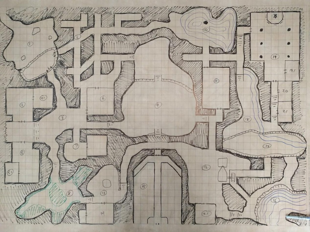 Oc] Wave Echo Cave Battle Map - We're Gonna Need A Bigger Table. : Dnd - Wave Echo Cave Map Printable