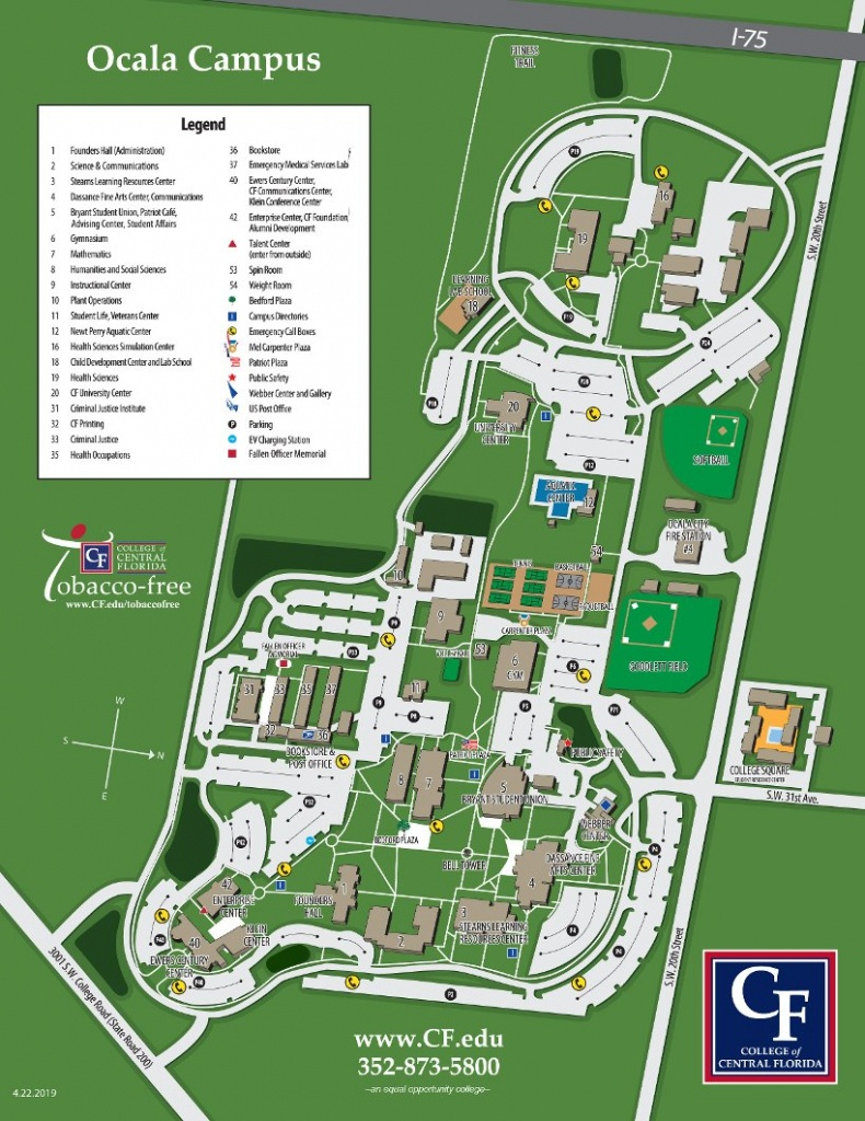 Ocala Campus Map | College Of Central Florida - Google Map Of Central Florida