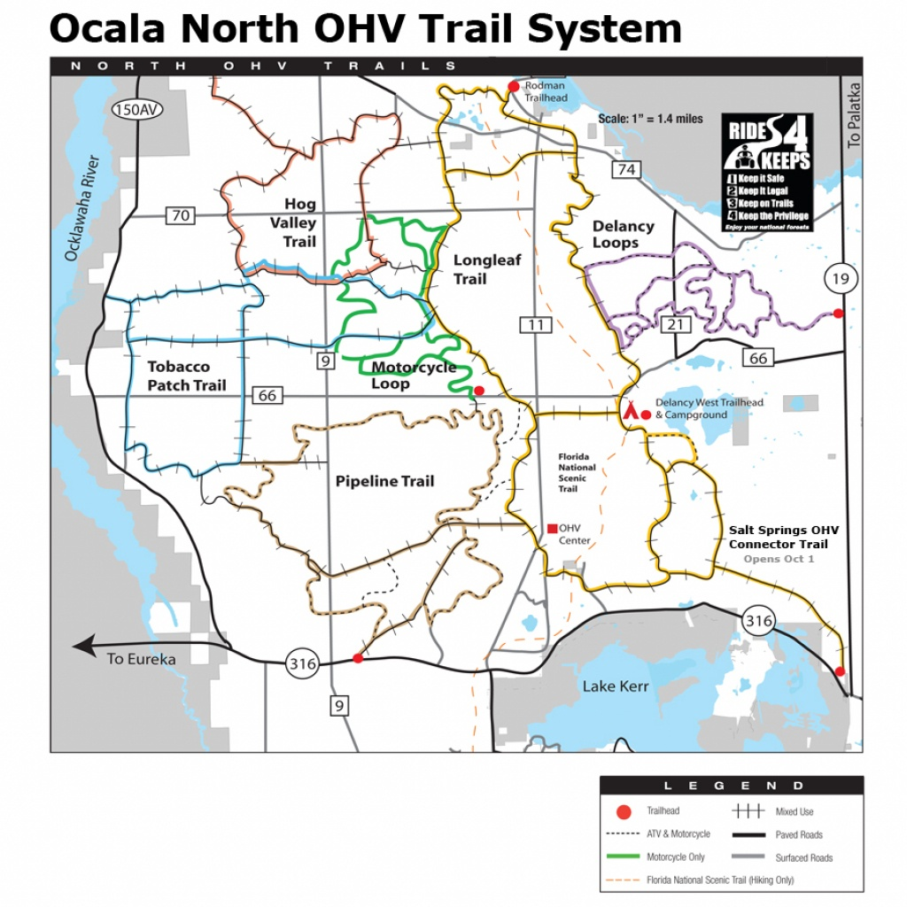 Ocala National Forest - Maps & Publications - National Forests In Florida Map