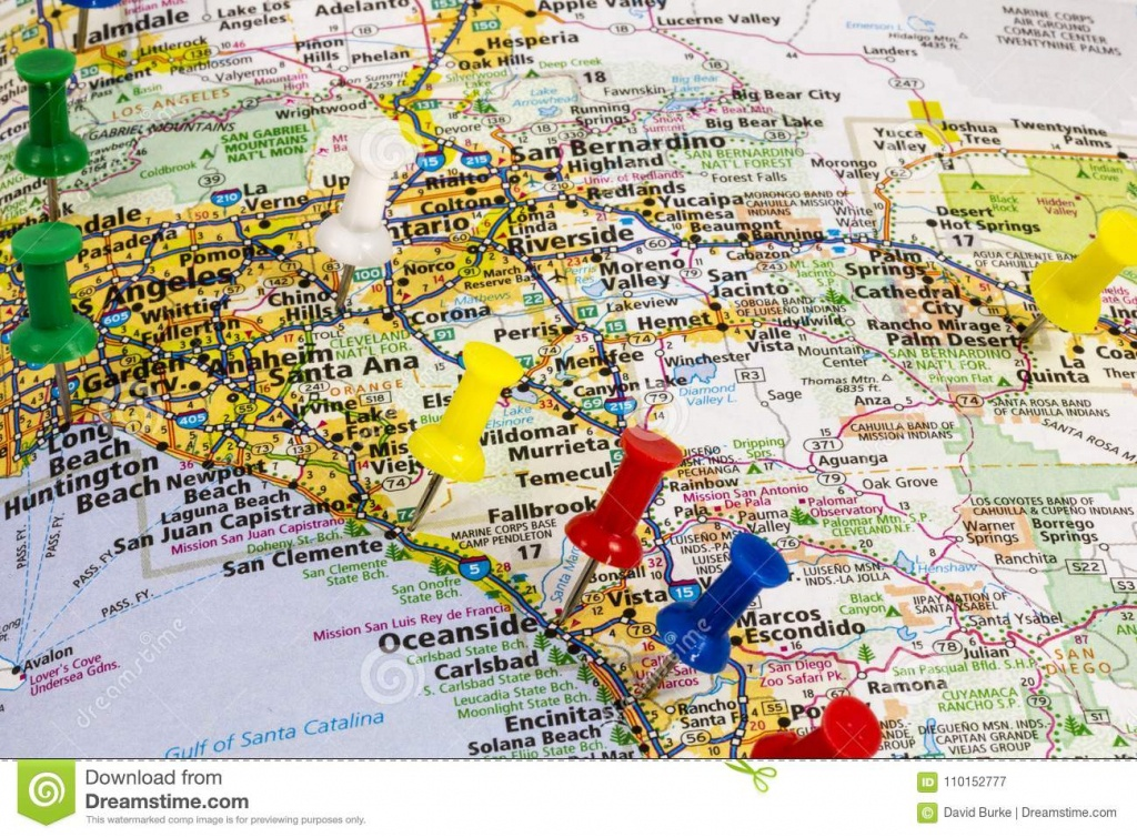 Ocanside California Long Beach Map Editorial Photography - Image Of - California Vacation Map