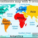 Ocean In The World Map 19 With Oceans 6   World Wide Maps   Printable Map Of The 7 Continents And 5 Oceans