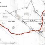 Ocean To Lake Hiking Trail - Hobe Sound Florida Map