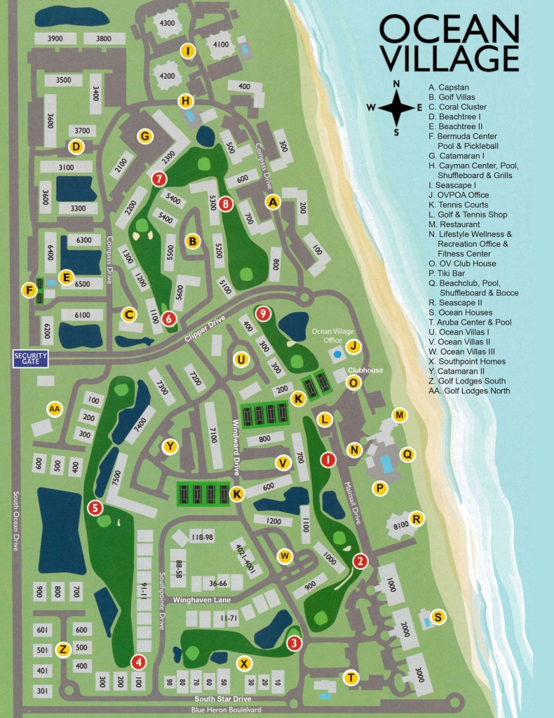 Ocean Village On Hutchinson Island - Hutchinson Beach Florida Map