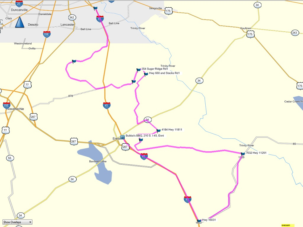 Odoms Barbecue Ennis Tx Map - Ennis Texas Map
