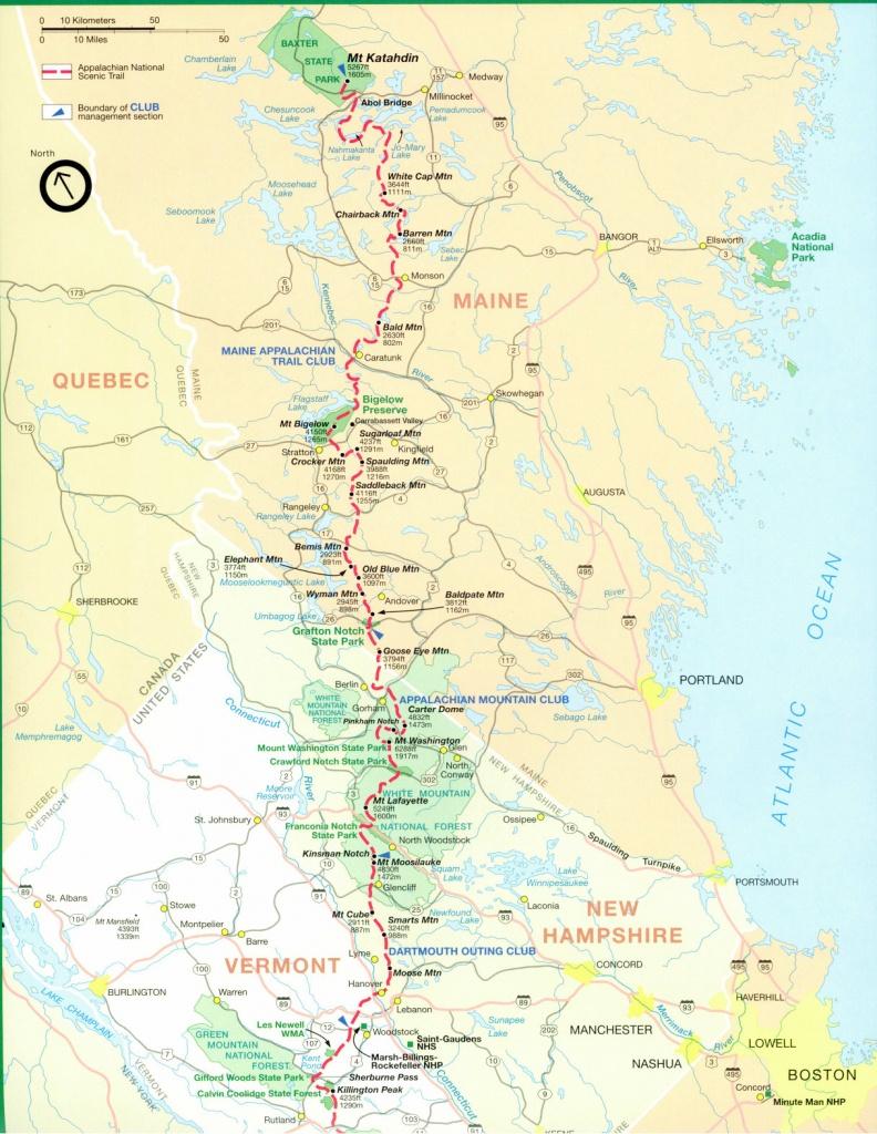 Official Appalachian Trail Maps - Free Printable Satellite Maps