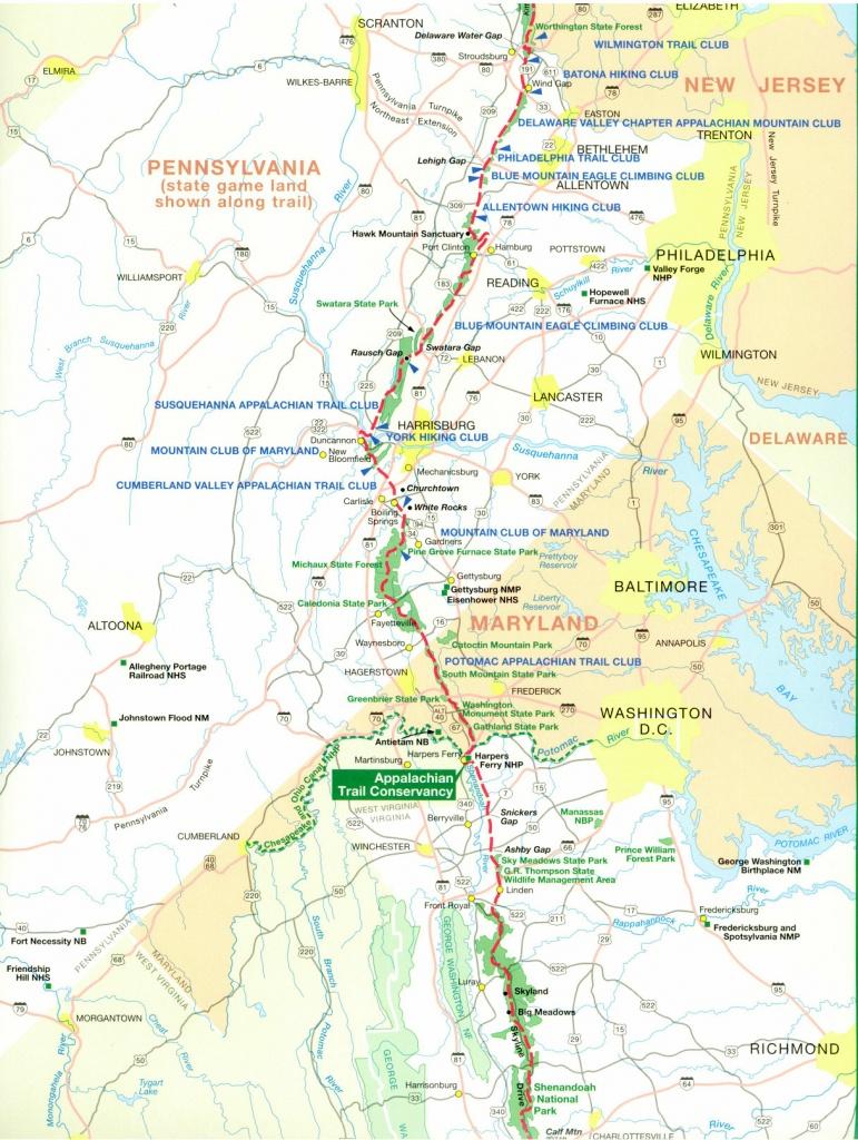 Official Appalachian Trail Maps - Printable Trail Maps