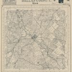 Official Map Of Dallas County, Texas | Library Of Congress - Map Records Dallas County Texas