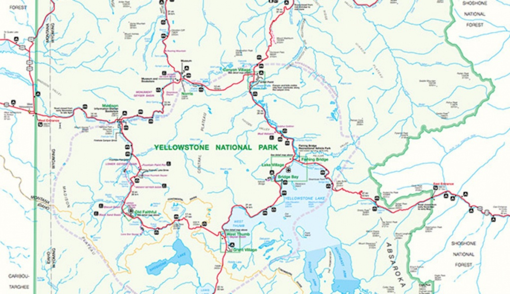 Official Yellowstone National Park Map Pdf - My Yellowstone Park - Printable Map Of Yellowstone National Park