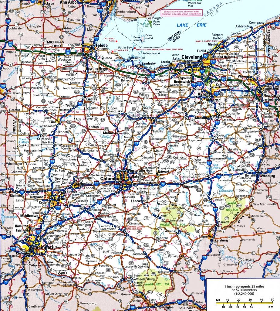 Ohio Road Map - Printable Map Of Ohio