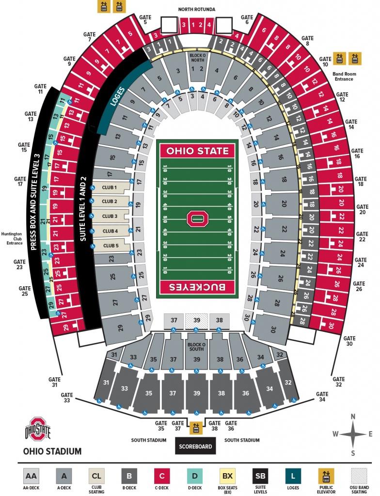 Ohio Stadium Seating Chart – Ohio State Buckeyes - University Of Florida Football Stadium Map