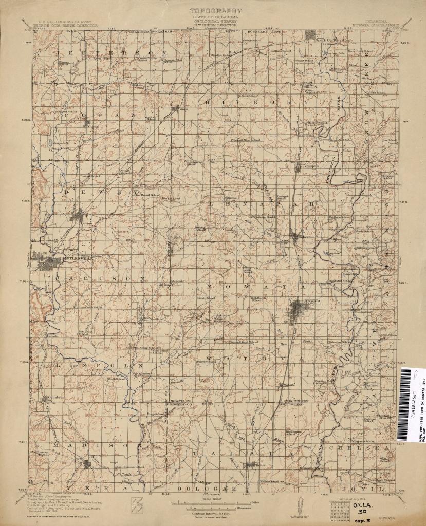 Oklahoma Historical Topographic Maps - Perry-Castañeda Map - Printable Map Of Norman Ok